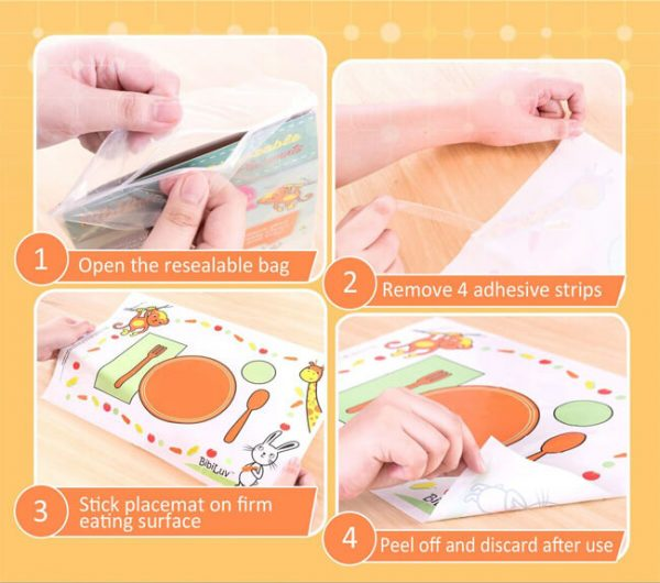 Sticky Disposable Placemats